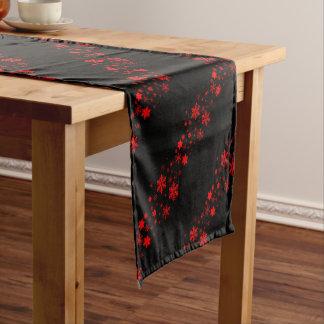 Red and Black Christmas Banner Short Table Runner