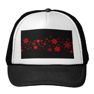 Red and Black Christmas Banner Trucker Hat