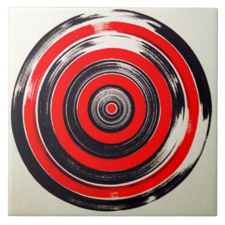 red and black circles tile