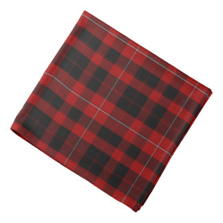 Red and Black Clan Cunningham Plaid Bandana