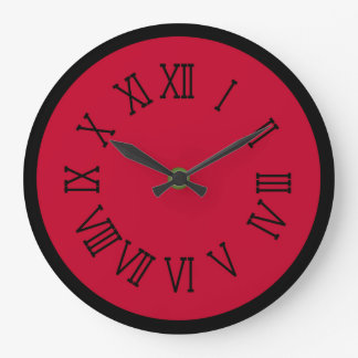 Red and Black Clock by Julie Everhart