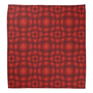 Red And Black Convex Illusion Pattern Bandana