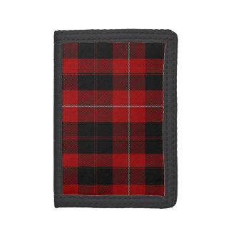 Red and Black Cunningham Plaid Wallet