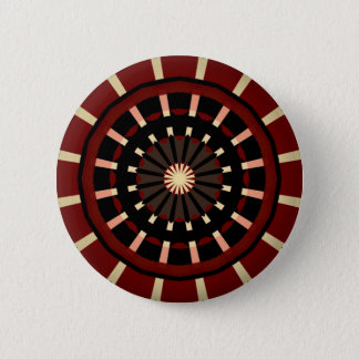 Red and Black Dart Board Inspired Design 2 Inch Round Button