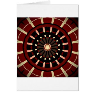 Red and Black Dart Board Inspired Design Card