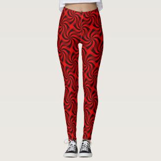 Red and Black Design Leggings