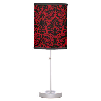 RED AND BLACK DESIGN TABLE LAMP