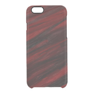 Red and black diagonal streaks clear iPhone 6/6S case