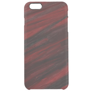 Red and black diagonal streaks clear iPhone 6 plus case