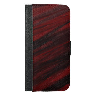 Red and black diagonal streaks iPhone 6/6s plus wallet case