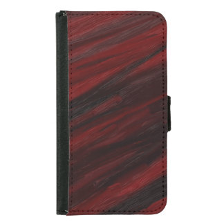 Red and black diagonal streaks samsung galaxy s5 wallet case