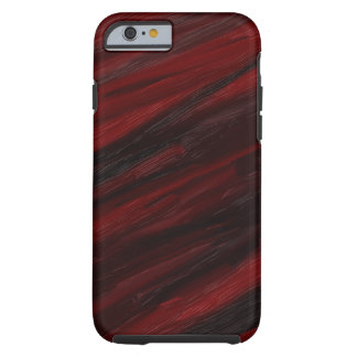 Red and black diagonal streaks tough iPhone 6 case