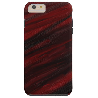 Red and black diagonal streaks tough iPhone 6 plus case