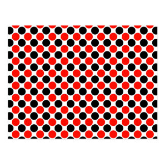 Red and Black Dots Postcard