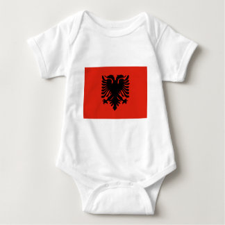 Red and Black Double Headed Eagle Flag of Albania Baby Bodysuit