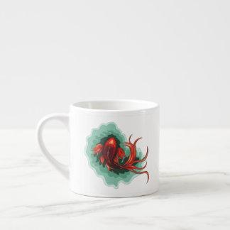 Red and Black Dragon Koi Espresso Cup