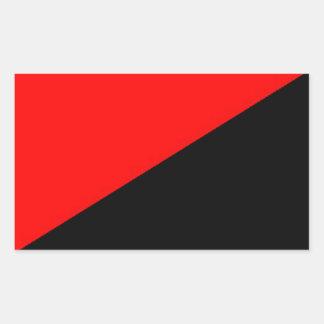 red and black flag logo xx sticker