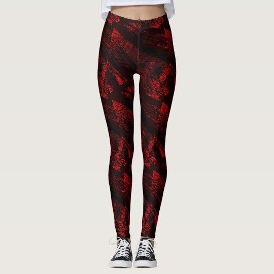 Red and Black Fractal Legging