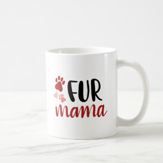 Red and Black | Fur Mama Mug