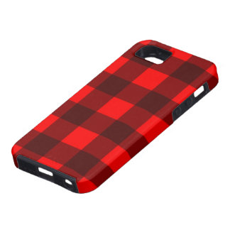 Red and Black Gingham Plaid Design Case For The iPhone 5