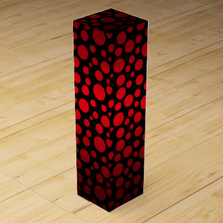 Red and Black Gradient Circles Wine Gift Box