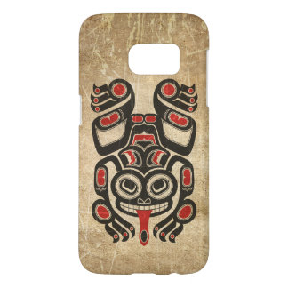 Red and Black Haida Spirit Tree Frog Samsung Galaxy S7 Case