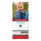 Red and Black Hockey Ticket Birthday Card