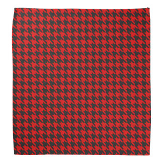 Red And Black Houndstooth Pattern Bandana