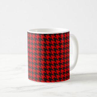 Red And Black Houndstooth Pattern Coffee Mug