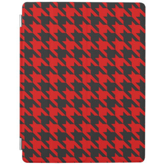 Red And Black Houndstooth Pattern iPad Cover