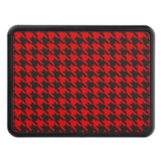 Red And Black Houndstooth Pattern Trailer Hitch Cover