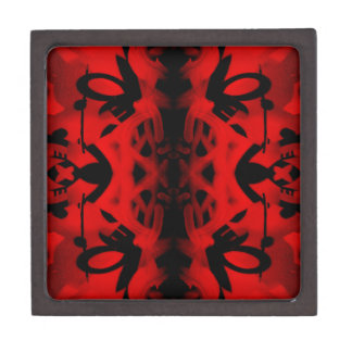 Red and black kaleidoscope graffiti premium gift boxes