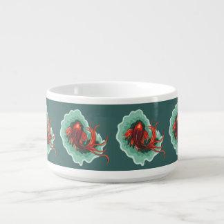 Red and Black Koi Fish Bowl