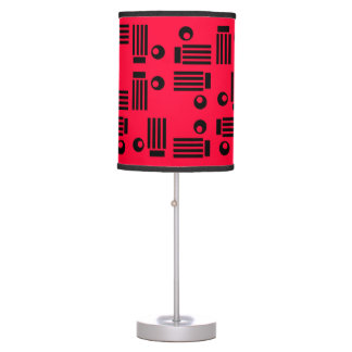 RED AND BLACK LINES AND CIRCLES lamp
