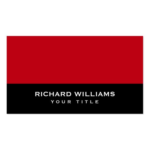Red and black modern generic personal profile or business card templates