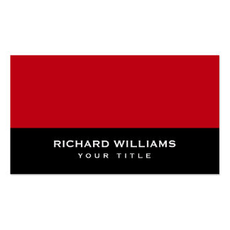 Red and black modern generic personal profile or pack of standard business cards
