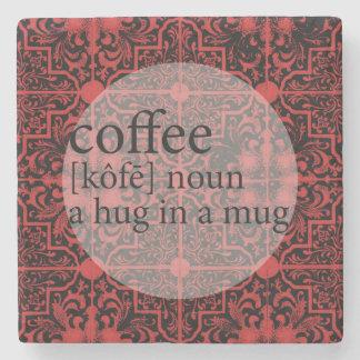 Red and Black Moroccan Tile Coffee Hug in a Mug Stone Coaster