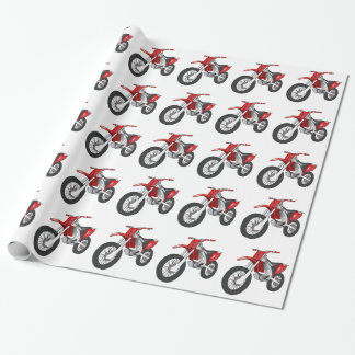 Red and Black Off-Road/Enduro Motorcycle Wrapping Paper