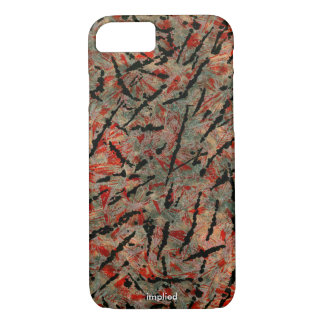 Red and black pattern iPhone 7 case