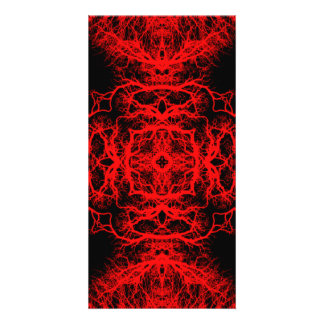 Red and Black Pattern Picture Card
