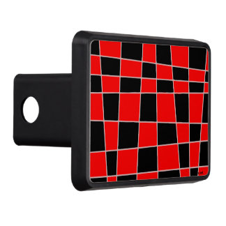 Red and black Plaid customizable Tow Hitch Cover