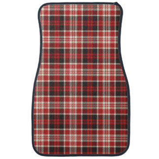 Red and Black Plaid Pattern Auto Mat