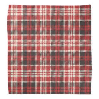 Red and Black Plaid Pattern Bandana