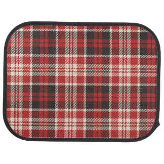 Red and Black Plaid Pattern Car Mat