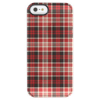 Red and Black Plaid Pattern Clear iPhone SE/5/5s Case