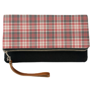 Red and Black Plaid Pattern Clutch