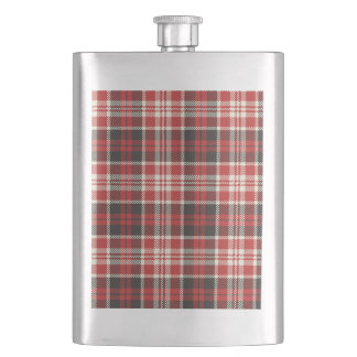 Red and Black Plaid Pattern Flask