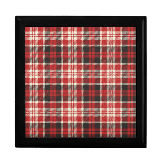 Red and Black Plaid Pattern Gift Box