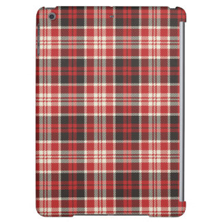 Red and Black Plaid Pattern iPad Air Cases
