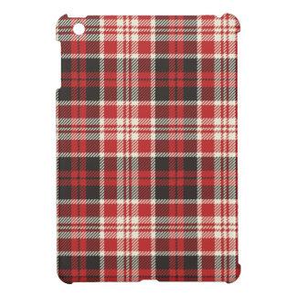 Red and Black Plaid Pattern iPad Mini Cases